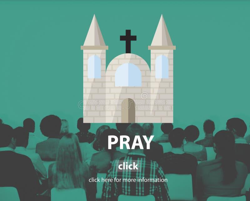 Помолите концепцию веры исповеди вероисповедания молитве духовную стоковое фото