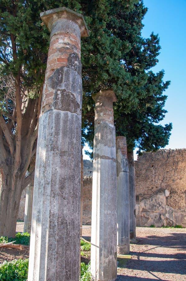 Помпеи, самые лучшие сохраненные археологические раскопки в мире, Италия стоковая фотография rf