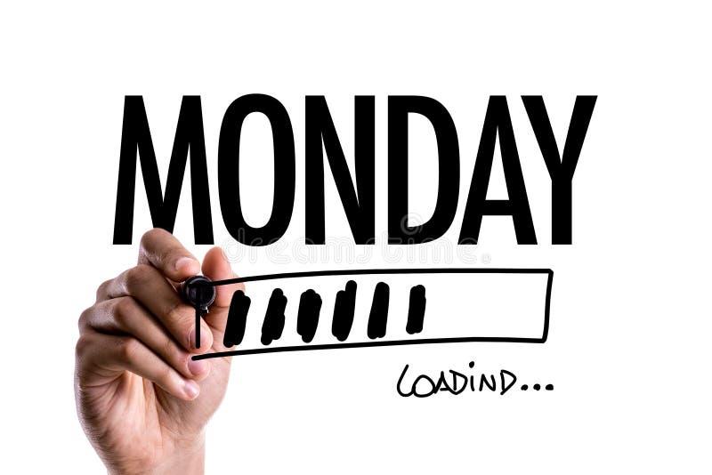 Понедельник на схематическом изображении стоковые фото