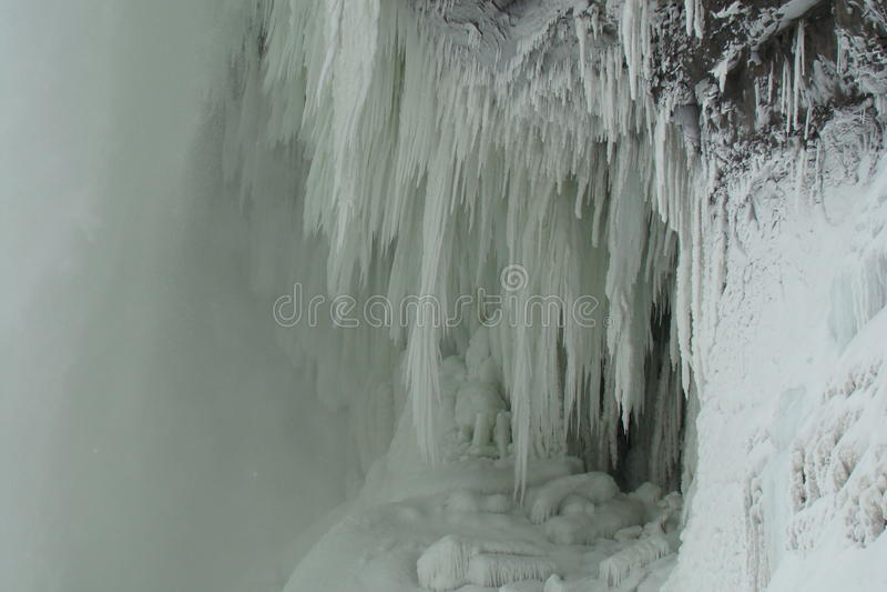понижается зима niagara стоковая фотография rf