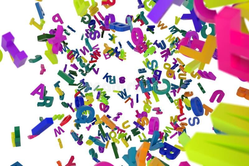 Понижаясь алфавит писем стоковое изображение rf
