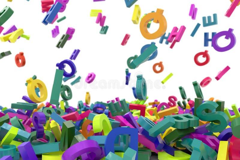 Понижаясь алфавит писем стоковые изображения