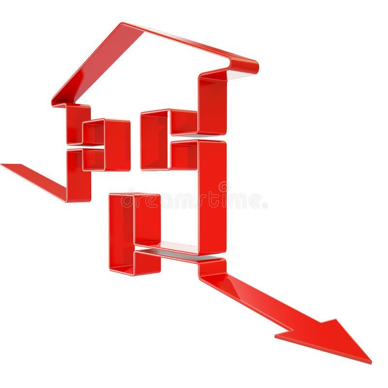 Понижаясь домашние значения иллюстрация вектора