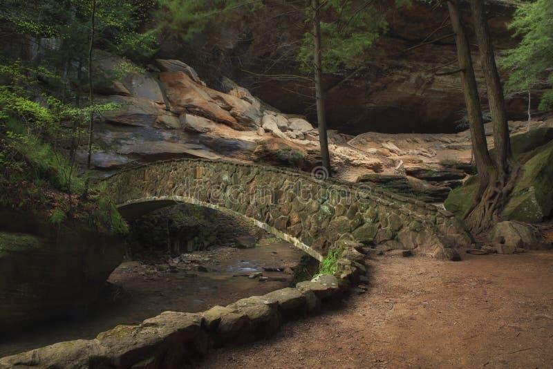 Понизьте мост падений стоковая фотография rf