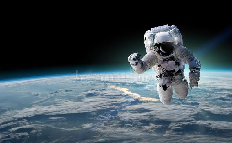 Понятие завоевания вселенной человеческой расой Элементы этого изображения предоставлены НАСА иллюстрация вектора