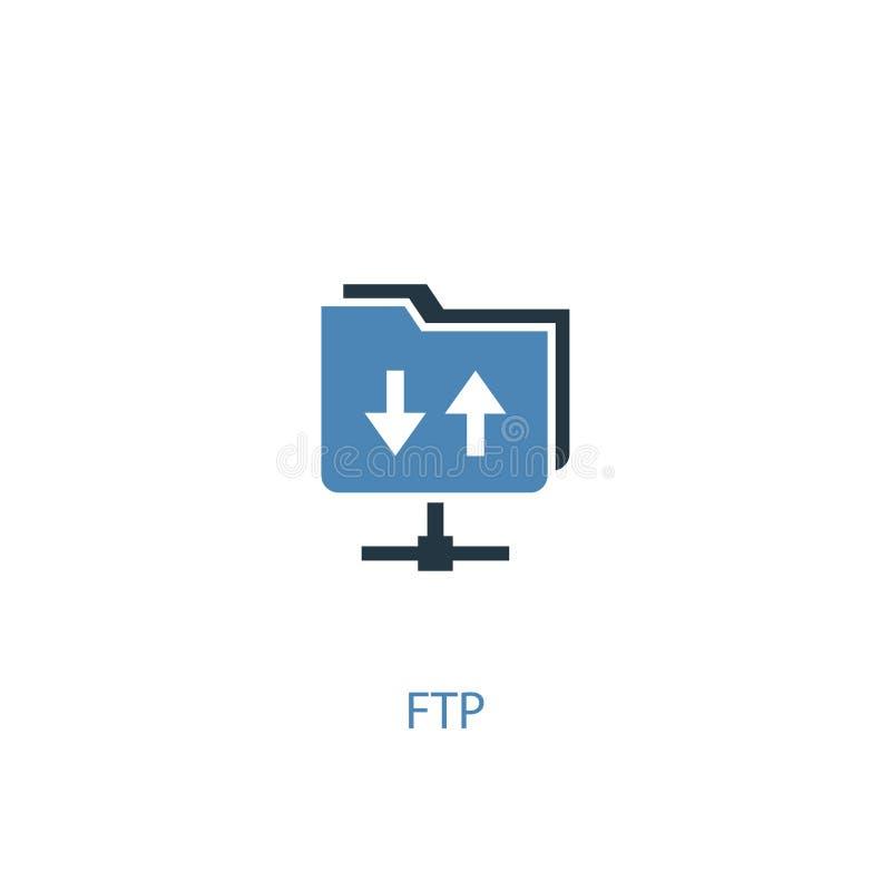 Понятие FTP 2 цветной значок Простой иллюстрация вектора