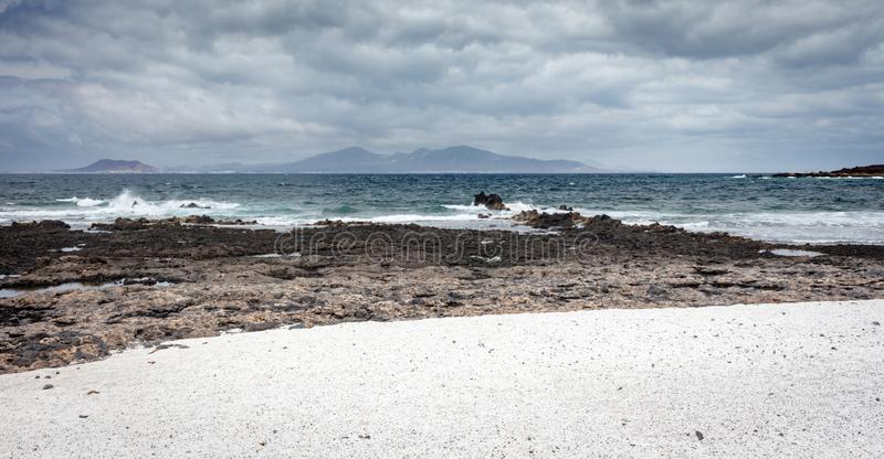 Попкорн Playa, Фуэртевентура стоковая фотография rf