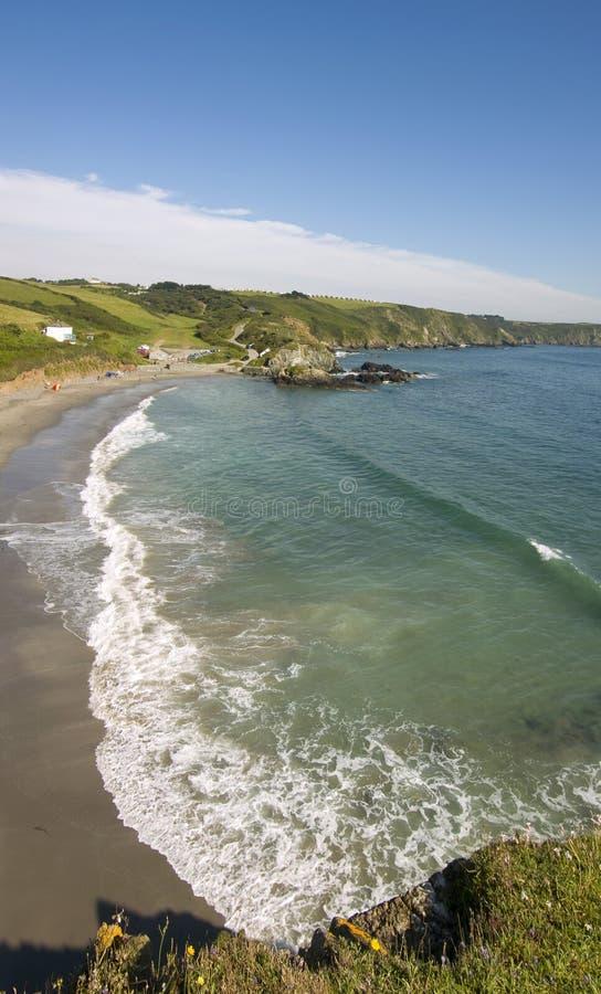 поплавайте вдоль побережья cornwall стоковое изображение rf