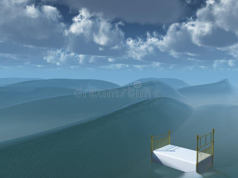 поплавки кровати бесплатная иллюстрация