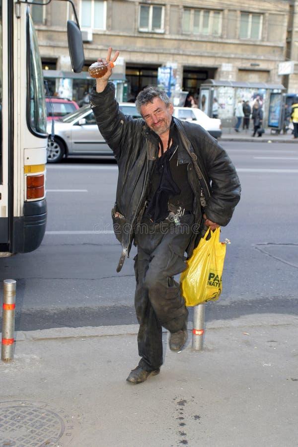 Попрошайка на улице стоковое изображение rf