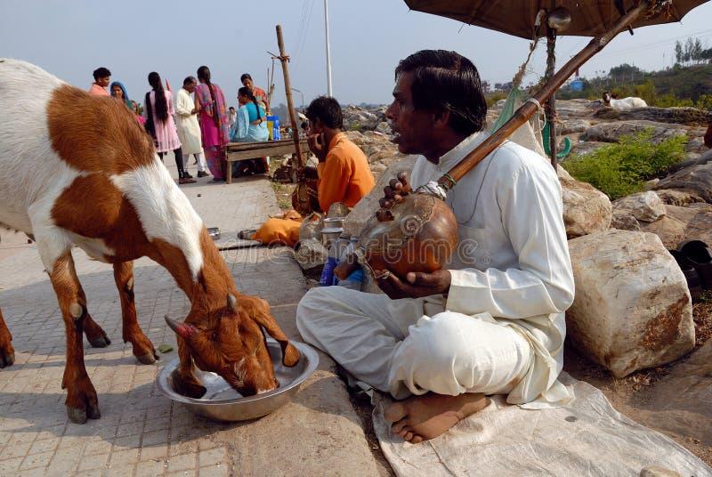 попрошайки Индия стоковые изображения rf