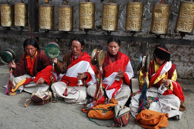 попрошайки тибетские стоковая фотография rf