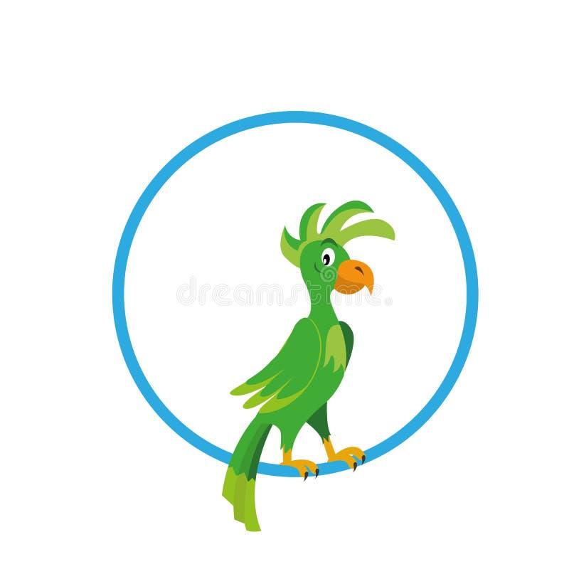 Попугай в векторе кольца иллюстрация штока