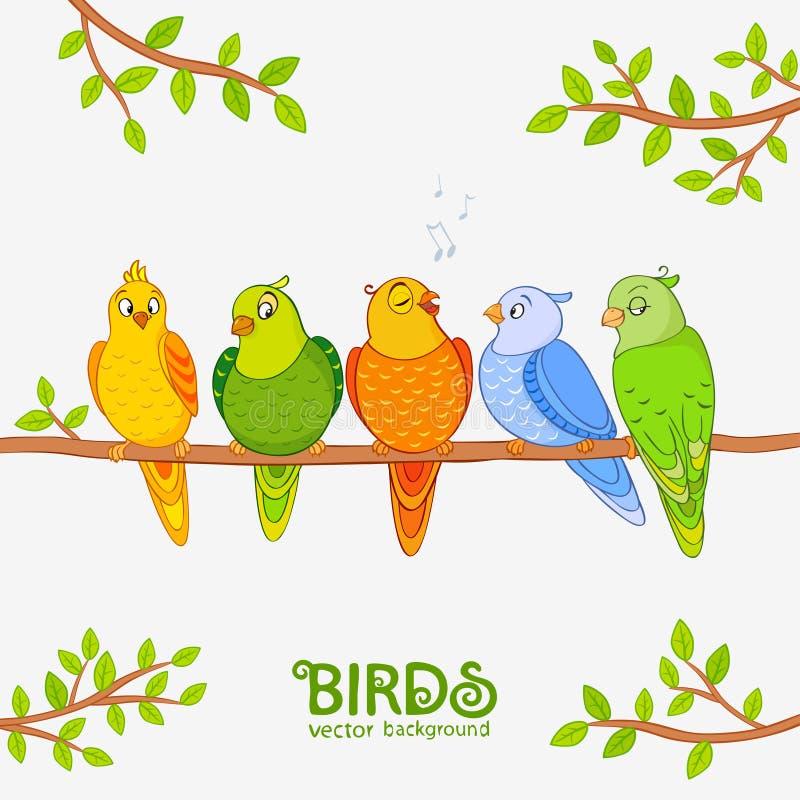 Попугай милый иллюстрация штока