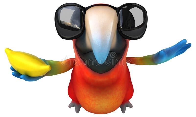 Попугай потехи иллюстрация вектора