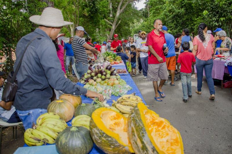 Популярный рынок в улицах Isla Маргариты стоковые фотографии rf