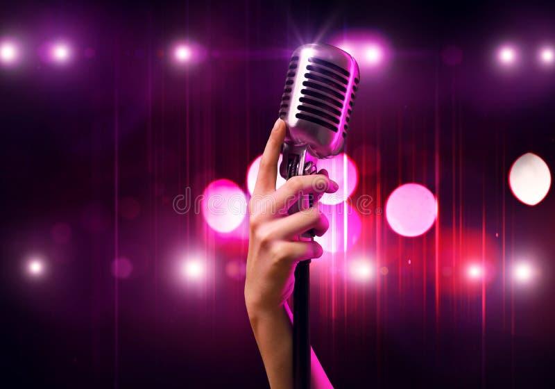 популярная певица стоковое изображение rf