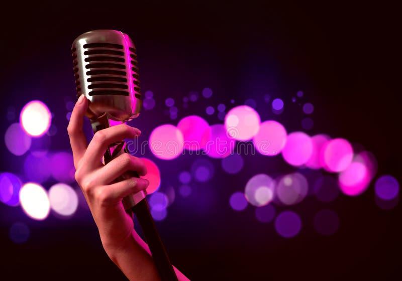 популярная певица стоковые изображения