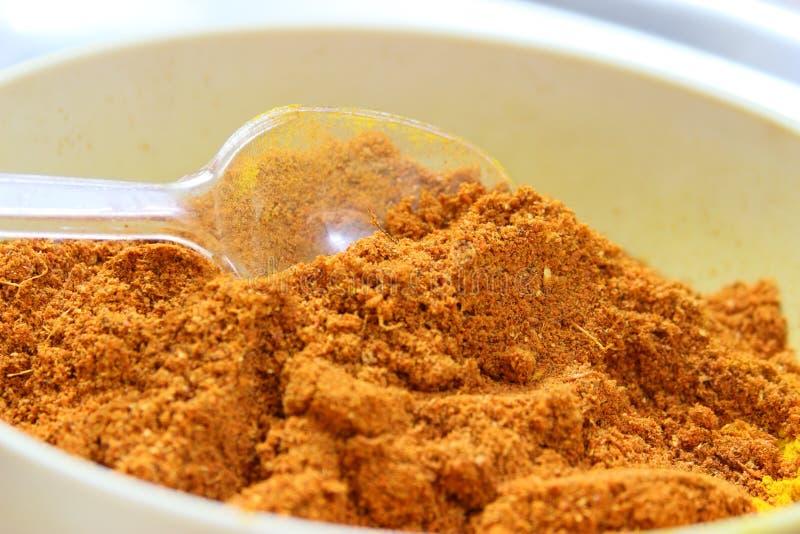 Популярный индеец spices смесь стоковое изображение