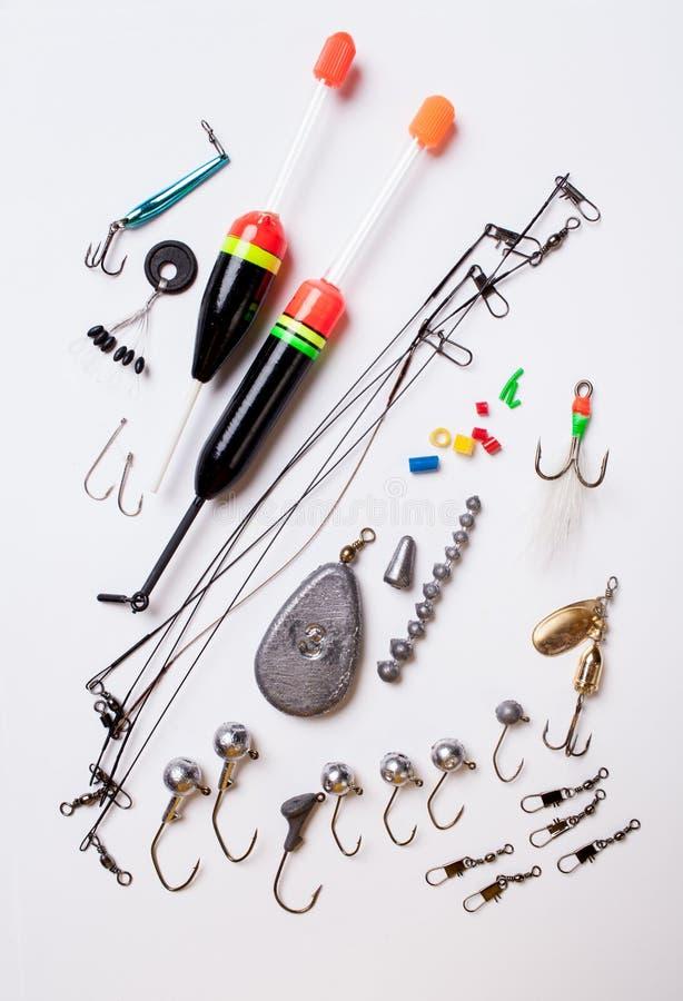 Поплавки и крюки стоковое фото