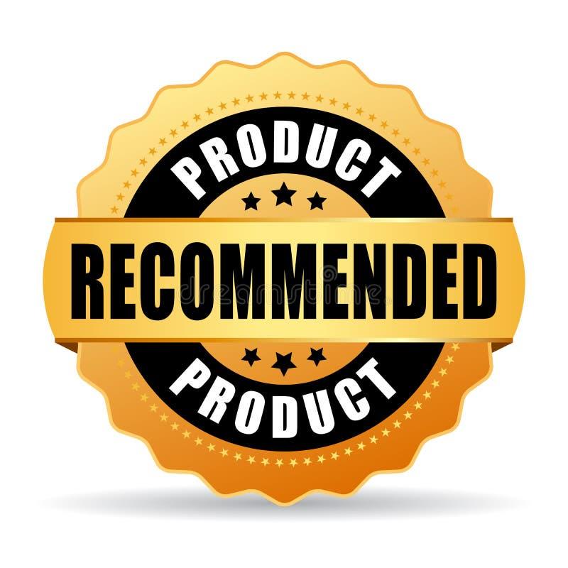 Порекомендованный значок вектора золота продукта иллюстрация штока