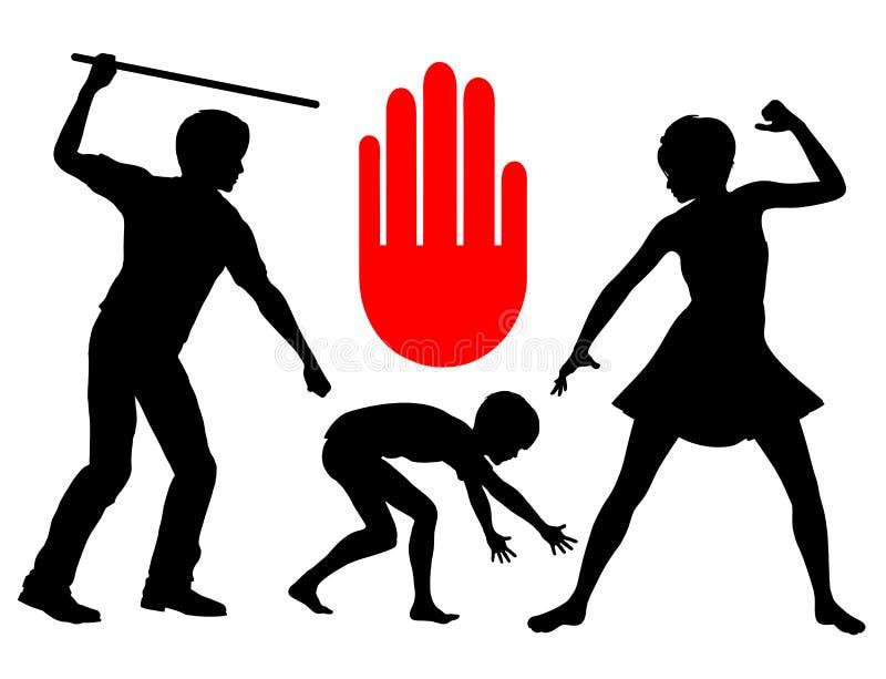 Порка запрета детей иллюстрация вектора