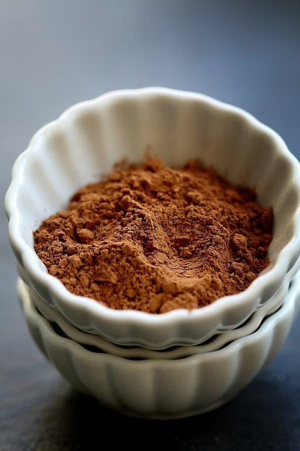 Порошок какао стоковые изображения rf