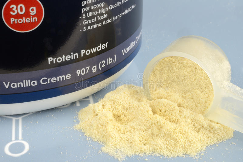 Порошок протеина стоковое изображение rf