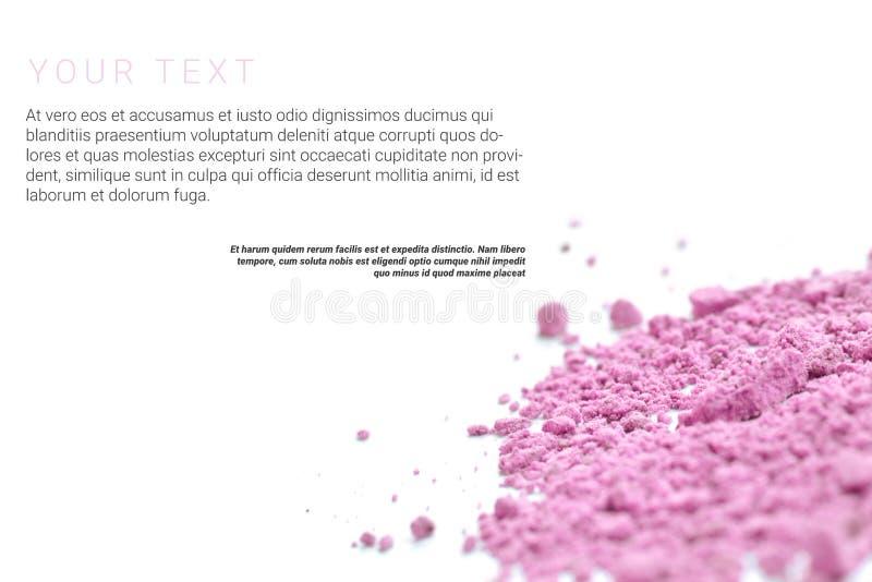 Порошок состава при текст изолированный на белой предпосылке Концепция страницы рогульки, знамени или каталога стоковое фото