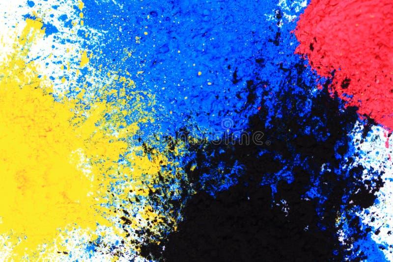 Порошок тонера Cmyk & x28; cyan, magenta, желтый, black& x29; стоковые фото