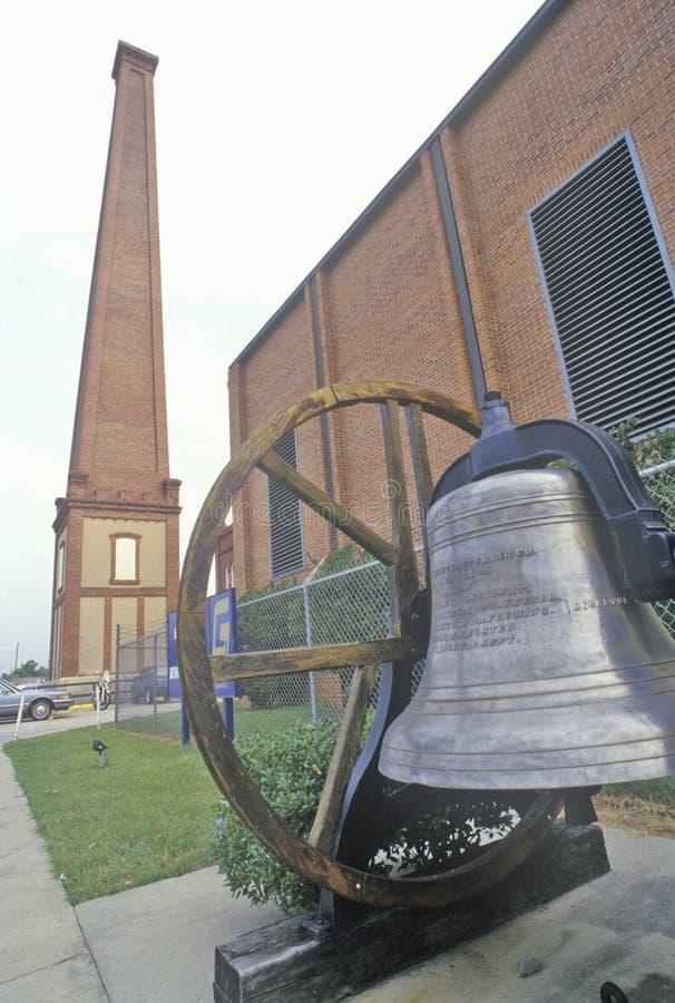 Порошок Confederate работает, самый большой завод во время гражданской войны, Augusta военных запасов, Georgia стоковое фото rf