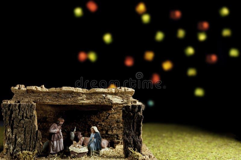 портал рождественской сценки 'бетлеем' стоковое изображение rf