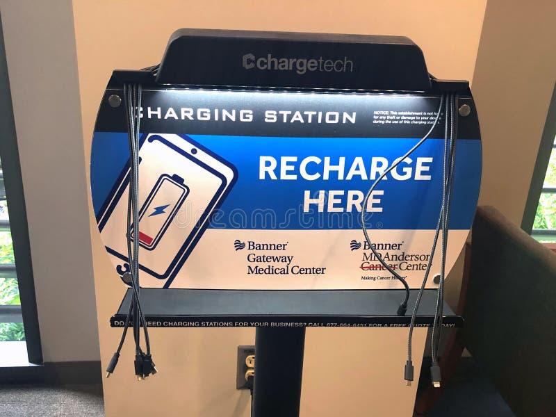 Портативная зарядная станция стоковые изображения rf