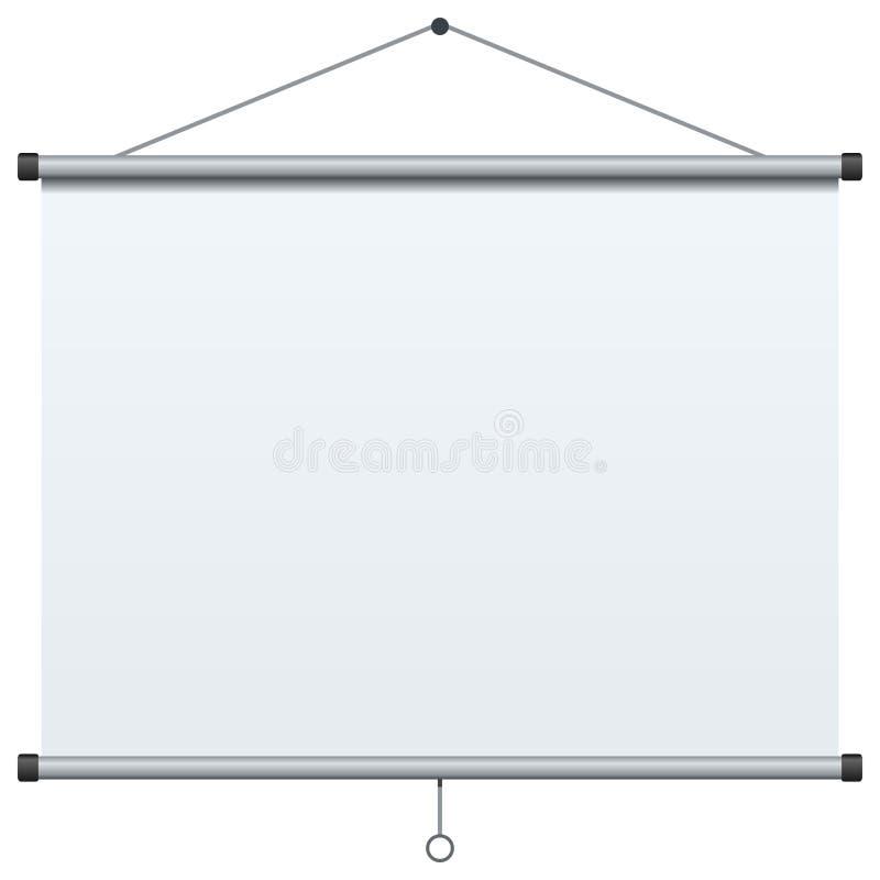 Портативный экран проекции иллюстрация вектора