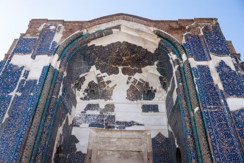 Портал голубой мечети стоковое изображение rf