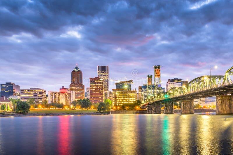 Портленд, Орегон, горизонт США стоковое изображение rf