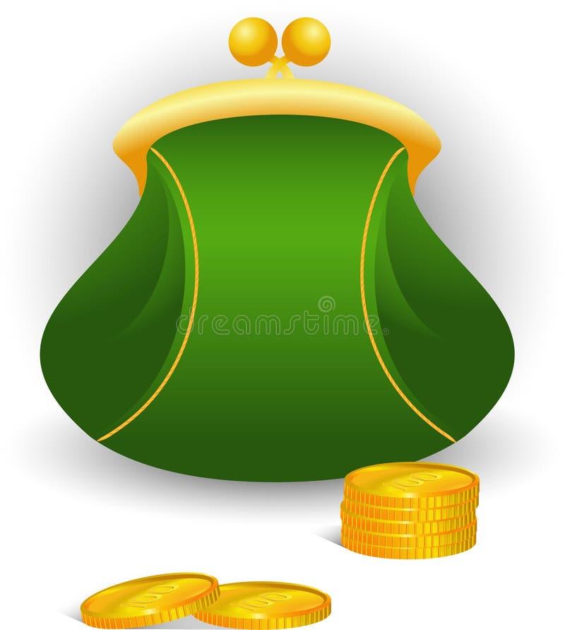 портмоне монеток иллюстрация вектора