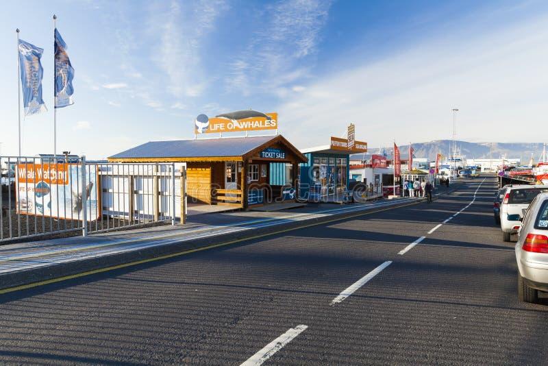 Портовая зона Reykjavik стоковые фото