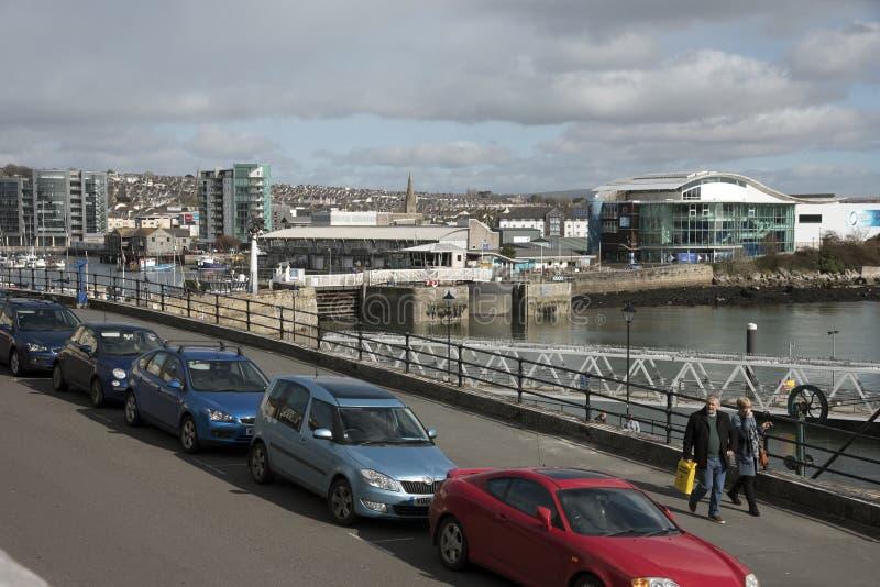 Портовый район барбакана в Плимуте Великобритании стоковое изображение rf