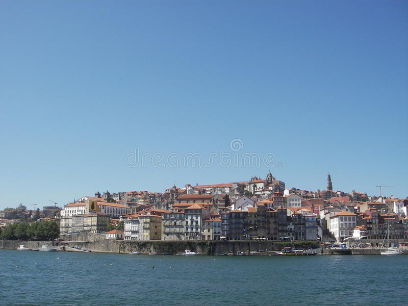 портовый район взгляда oporto стоковое изображение rf