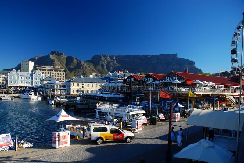 Портовый район Виктории & Альфреда (V&A) Cape Town Западная плаща-накидк, Южно-Африканская РеспублЍ стоковое фото