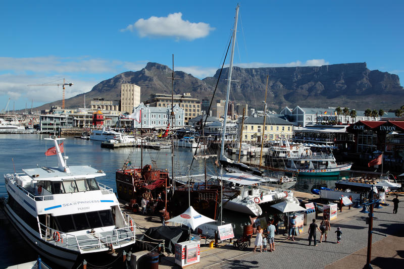 Портовый район Виктории и Альфреда - Кейптаун стоковое изображение rf