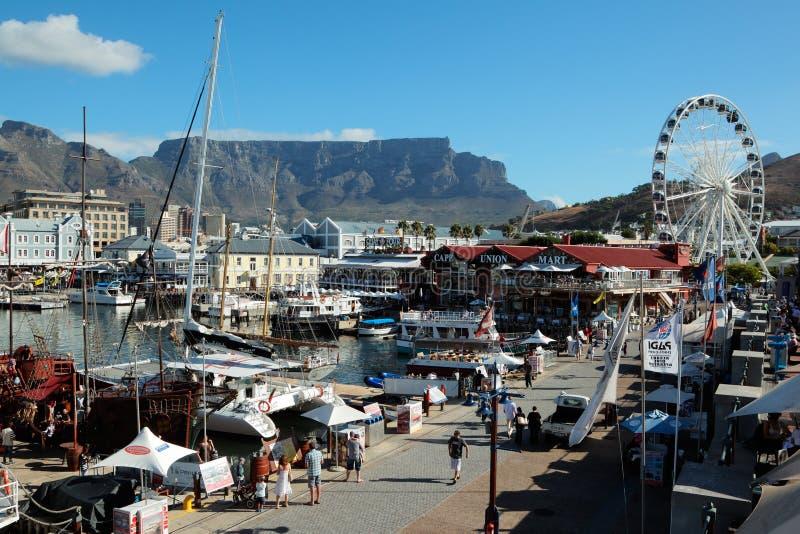 Портовый район Виктории и Альфреда - Кейптаун стоковое фото rf