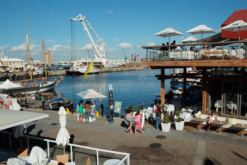 Портовый район Виктории и Альфреда - Кейптаун стоковые фотографии rf