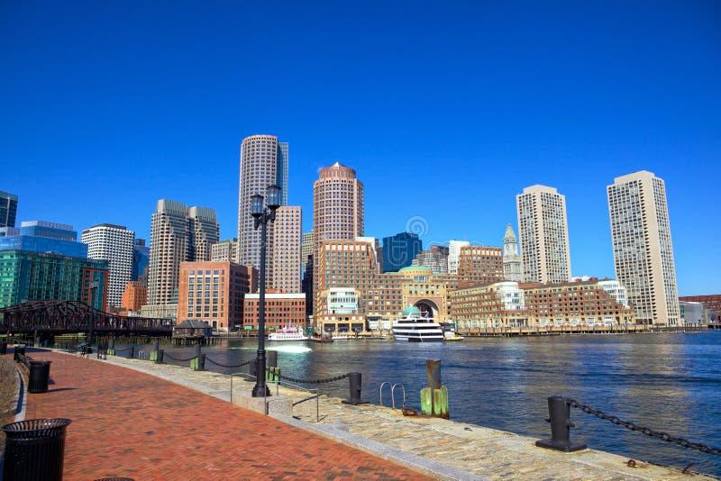 Портовый район гавани Бостона стоковая фотография rf