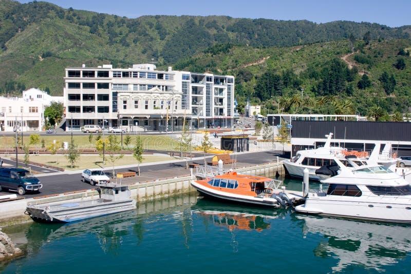 портовый район города малый стоковые изображения rf