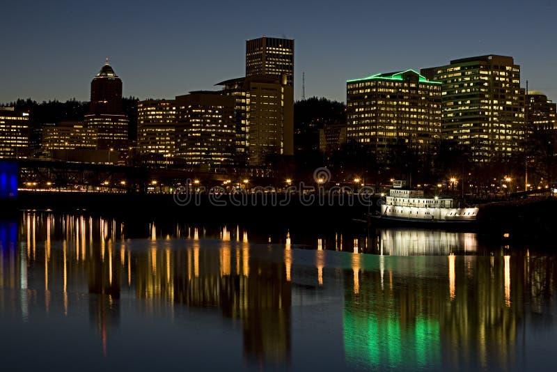 портовый район Орегона portland стоковое изображение rf