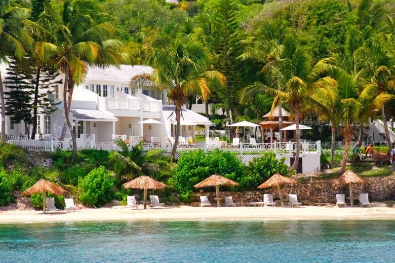 портовый район роскошного курорта кондо Антигуы стоковые фотографии rf