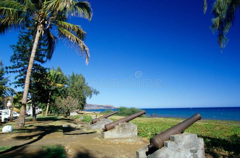 портовый район святой реюньона Паыля острова стоковые фотографии rf