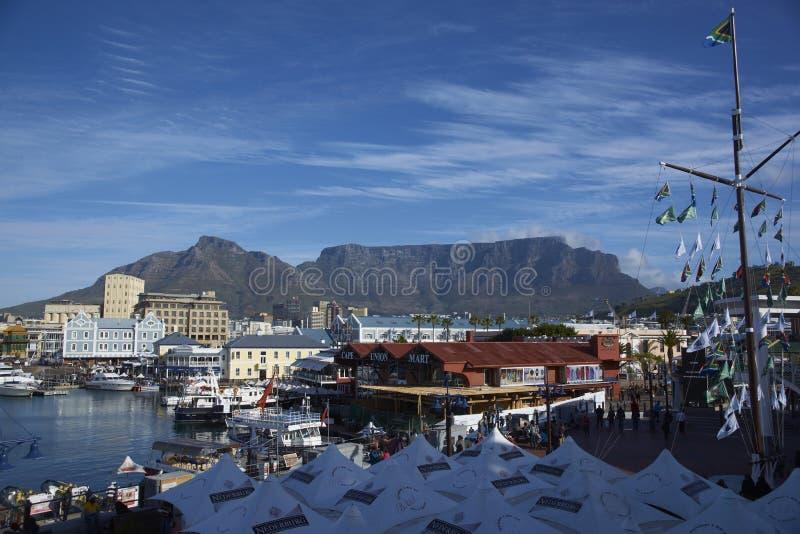 портовый район Cape Town стоковое изображение rf